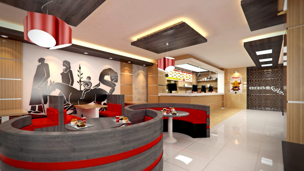 Hardees interior Design