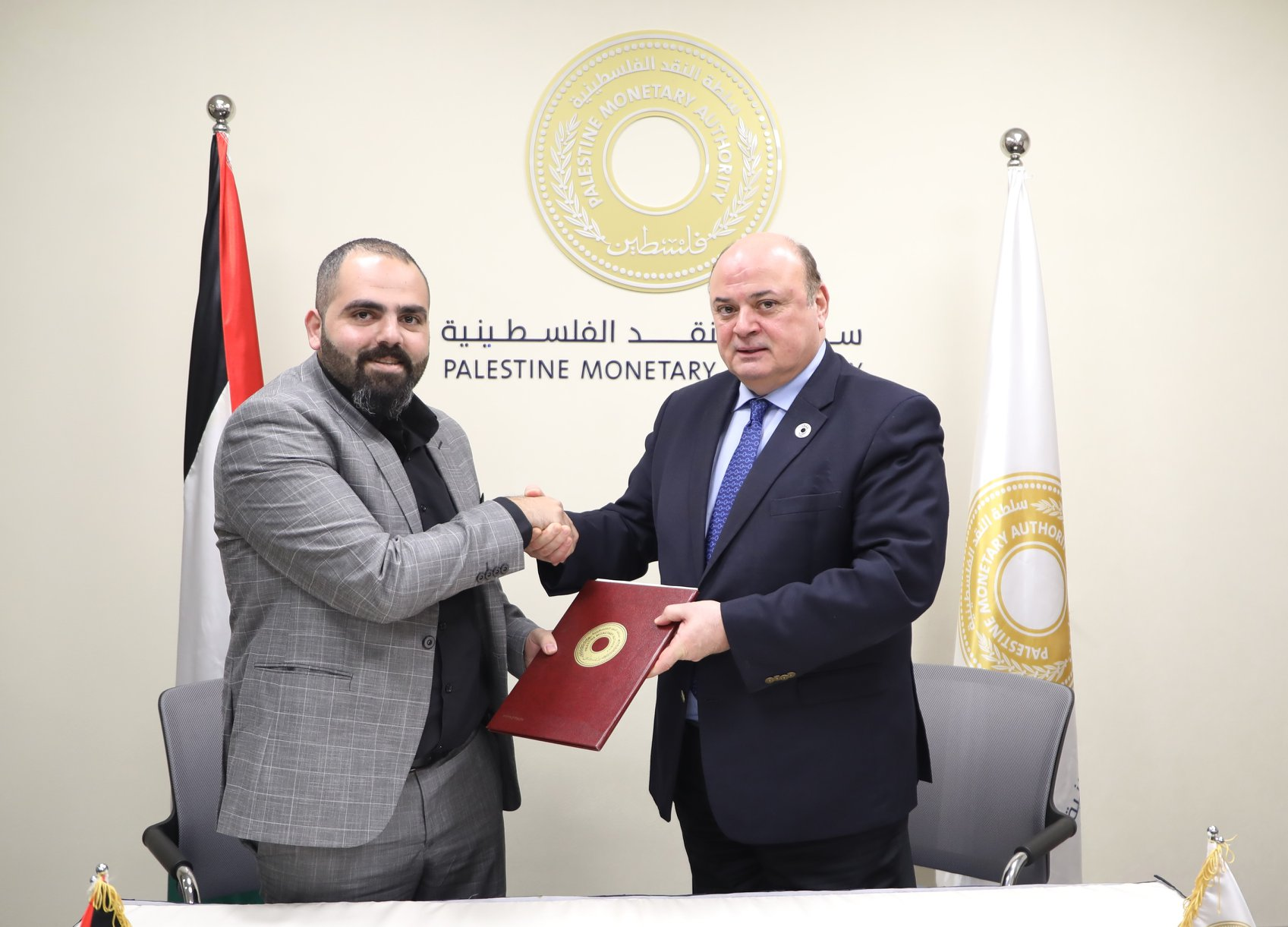 AD3 and Palestinian Monetary Authority sign agreement to design the Palestinian Museum of coins.